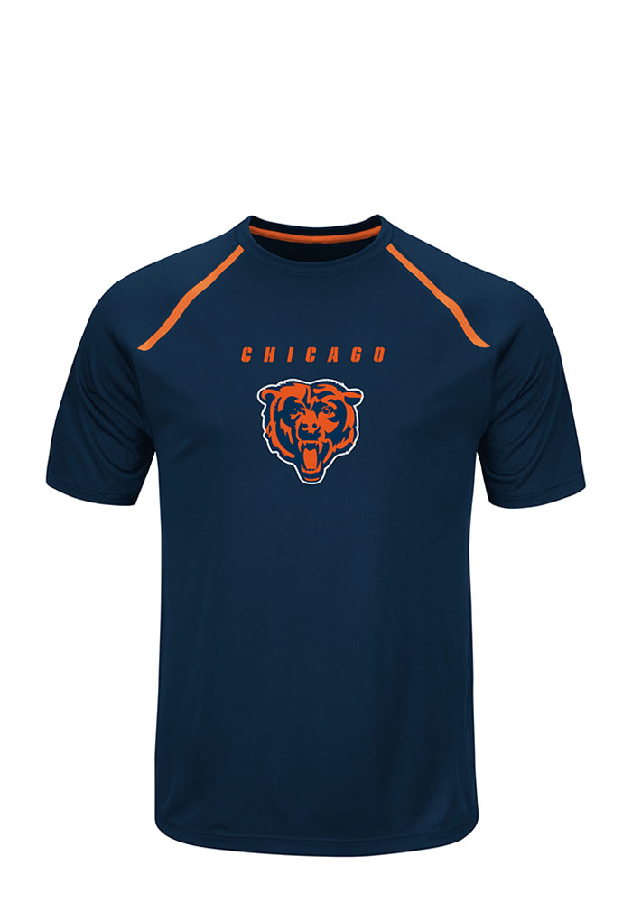 Majestic Chicago Bears Navy Blue Fanfare Tee