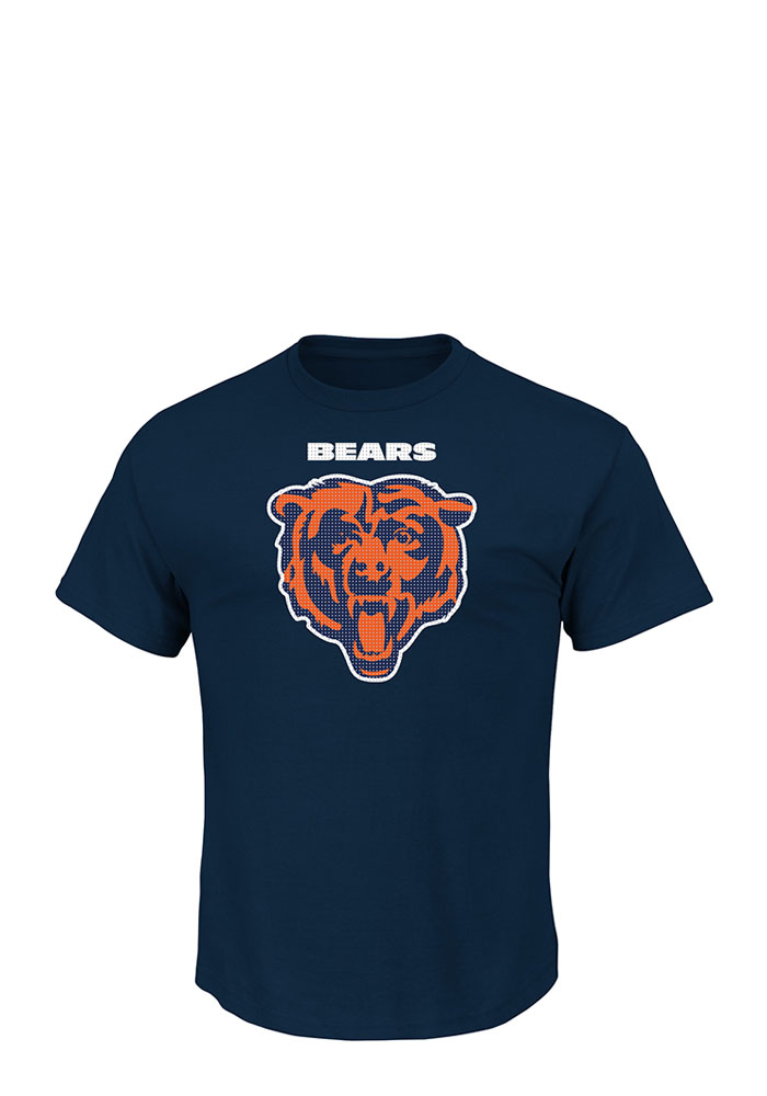 Majestic Chicago Bears Navy Blue Critical Victory Short Sleeve T Shirt - Image 1