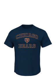 Majestic Chicago Bears Navy Blue Heart and Soul Tee