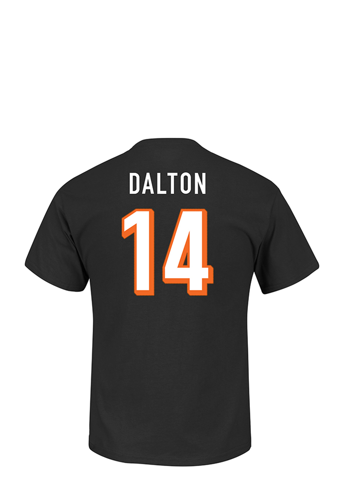 Andy Dalton Cincinnati Bengals Black Eligible Receiver Short Sleeve Player T Shirt - Image 1