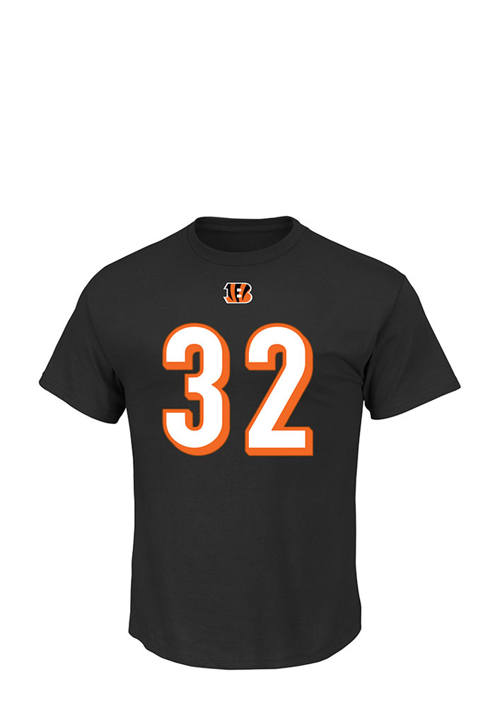 Jeremy Hill Cincinnati Bengals Black Eligible Receiver Short Sleeve Player T Shirt - Image 2