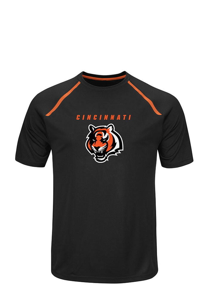 Majestic Cincinnati Bengals Black Tee Short Sleeve T Shirt - Image 1