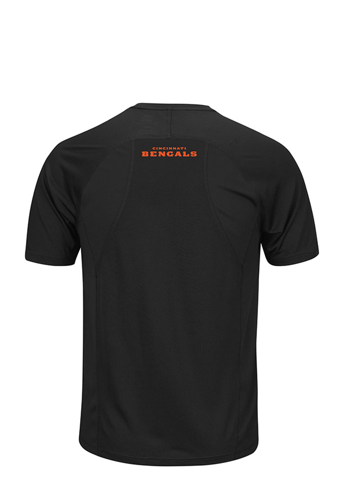 Majestic Cincinnati Bengals Black Tee Short Sleeve T Shirt - Image 2