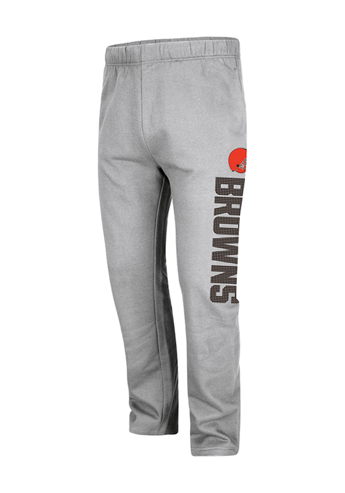 Majestic Cleveland Browns Mens Grey Tee Sweatpants - Image 1