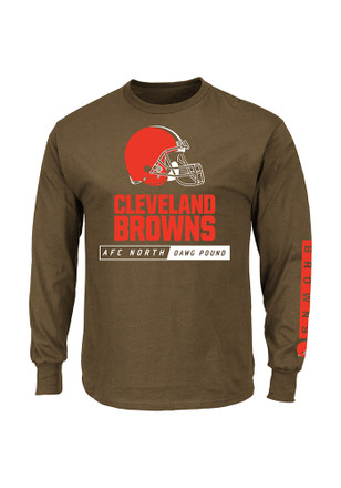 Majestic Cleveland Browns Mens Brown Primary Receiver Tee