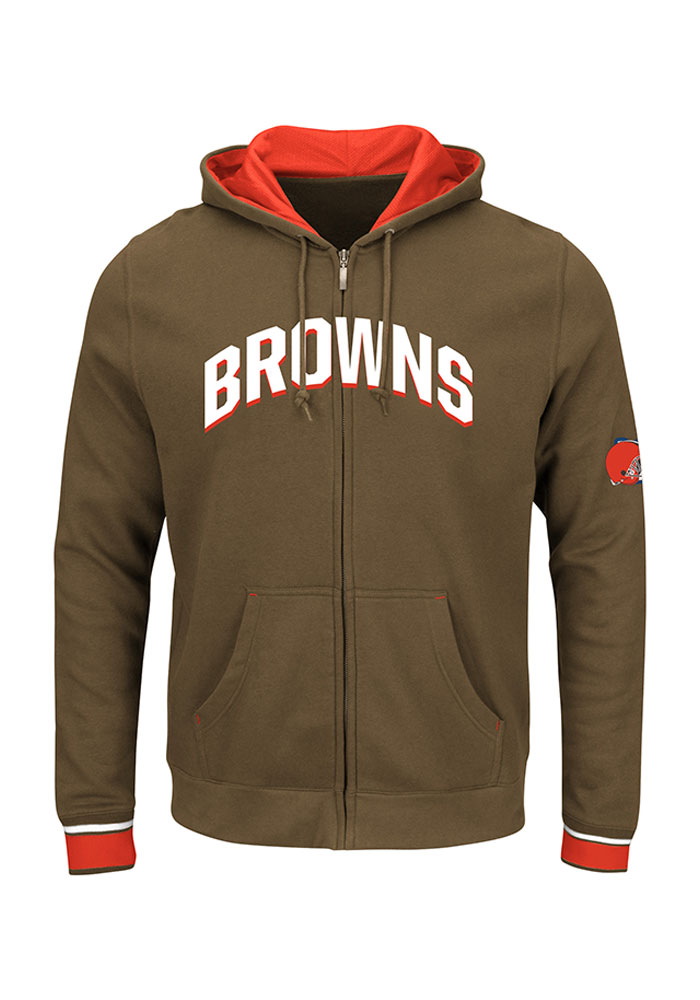 Majestic Cleveland Browns Mens Black Anchor Point Long Sleeve Full Zip Jacket - Image 1