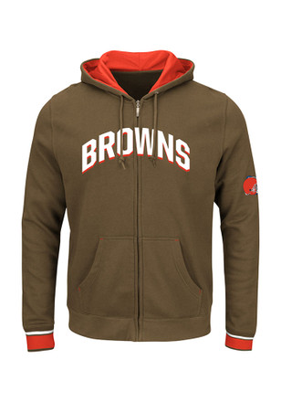 Majestic Cleveland Browns Mens Black Anchor Point Full Zip Jacket