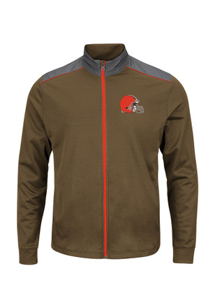 Majestic Cleveland Browns Mens Black Team Tech Zip