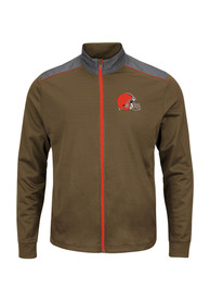 Cleveland Browns Majestic Team Tech Zip - Brown