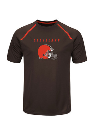 Majestic Cleveland Browns Mens Grey Fanfare Tee