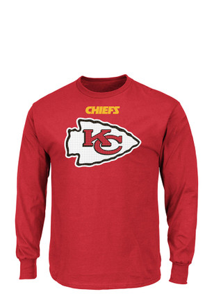 Majestic KC Chiefs Mens Red Critical Victory Tee