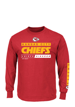 Majestic KC Chiefs Mens Red Primary Receiver Tee