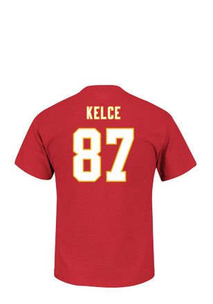 Travis Kelce Kansas City Chiefs Mens Red Eligible Receiver Player Tee