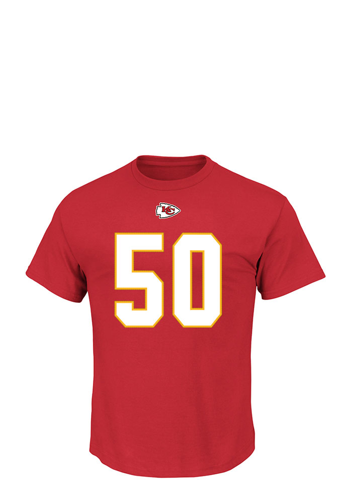 Justin Houston Kansas City Chiefs Red Eligible Receiver Short Sleeve Player T Shirt - Image 2
