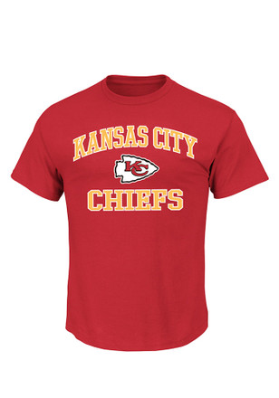 Kansas City Chiefs Mens Red Heart and Soul III Tee