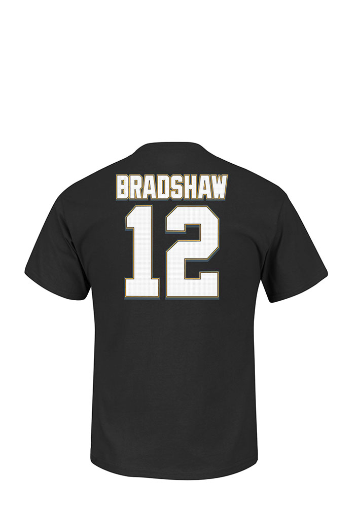 Terry Bradshaw Pittsburgh Steelers Mens Black Eligible Receiver Short Sleeve Player T Shirt - Image 1