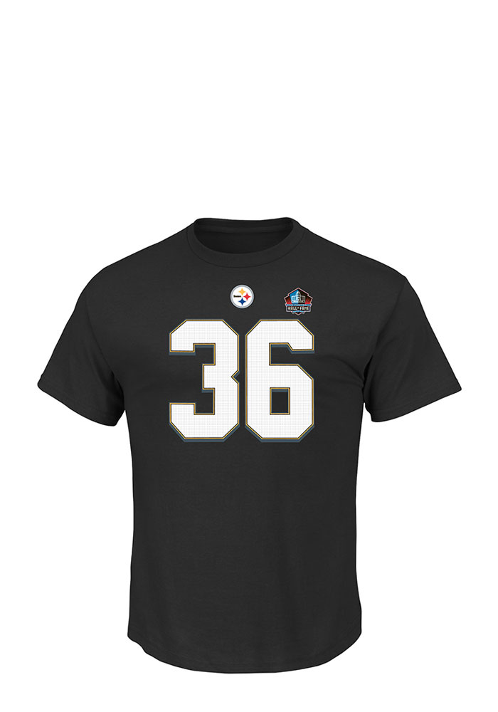 Jerome Bettis Pittsburgh Steelers Mens Black Eligible Receiver Short Sleeve Player T Shirt - Image 2