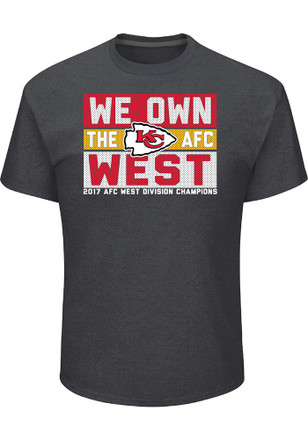 Majestic Kansas City Chiefs Mens Grey 2017 Division Champions Tee