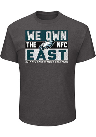 Philadelphia Eagles Mens Grey 2017 Division Champions Line of Scrimmage Tee
