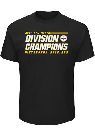 Pittsburgh Steelers Mens Black 2017 Division Champs Victory Pride Tee