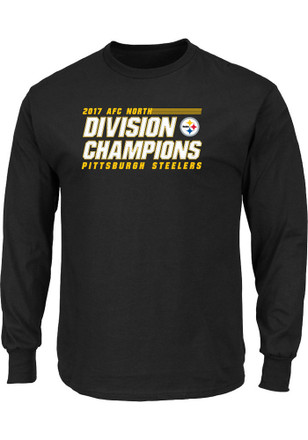 Pittsburgh Steelers Mens Black 2017 Division Champions Victory Pride Tee