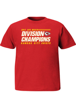 Majestic Kansas City Chiefs Youth Red 2017 Division Champions T-Shirt