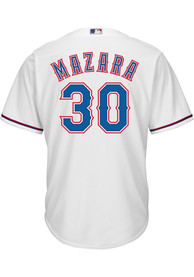Nomar Mazara Texas Rangers Majestic 2019 Home Replica - White