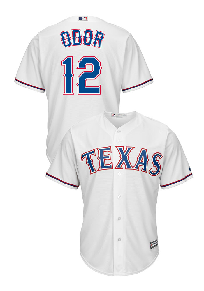 Rougned Odor Texas Rangers Mens Replica Cool Base Jersey - White - Image 3