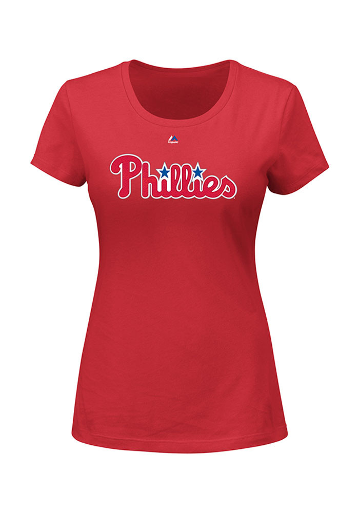 Maikel Franco Philadelphia Phillies Womens Red Name and Number Player T-Shirt - Image 1