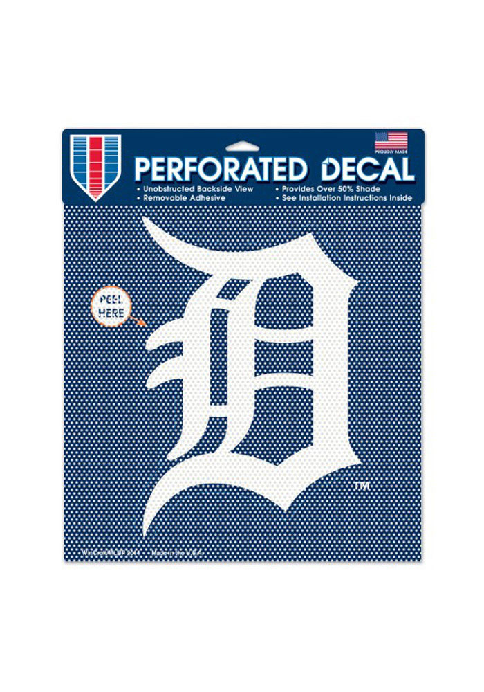 Detroit Tigers 12x12 Perforated Decal - Image 1