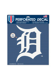 Detroit Tigers 12x12 Perforated Auto Decal - Navy Blue