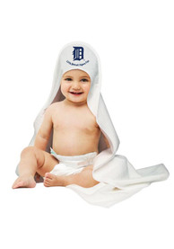Detroit Tigers Baby Hooded Towel Bath Accessory - White