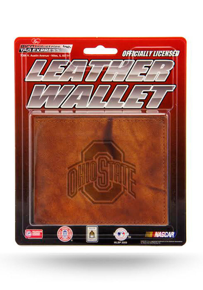 Ohio State Buckeyes Manmade Leather Mens Bifold Wallet - Image 1