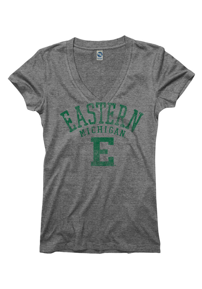 Eastern Michigan Eagles Juniors Grey Ageless V-Neck T-Shirt - Image 1