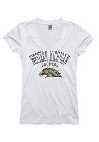 365d0618a3c Western Michigan Broncos Juniors White Ageless V-Neck