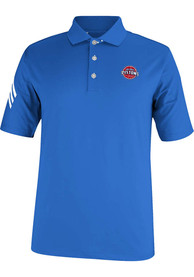Adidas Detroit Pistons Mens Blue Puremotion Climacool 3-Stripe Short Sleeve Polo Shirt