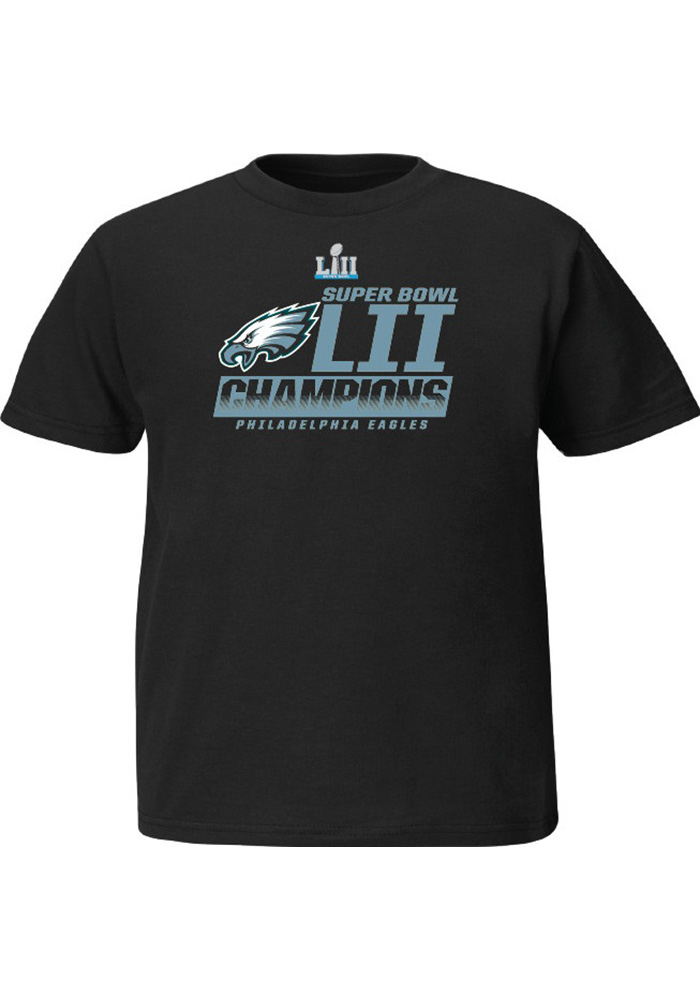 Philadelphia Eagles Youth Black SB LII Fanfare Short Sleeve T-Shirt - Image 1