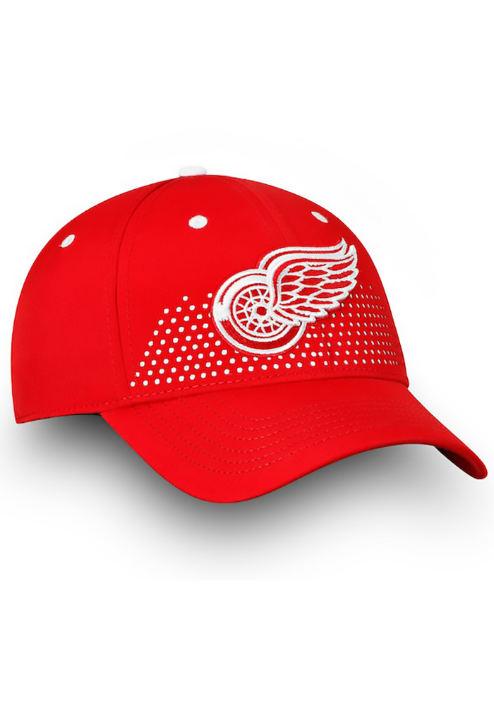 Detroit Red Wings Mens Red 2018 Authentic Pro Draft Flex Hat - Image 3
