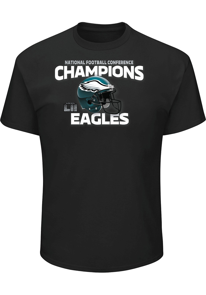 Philadelphia Eagles Mens Black Victory Pride Short Sleeve T Shirt, Black, 100% COTTON, Size XL