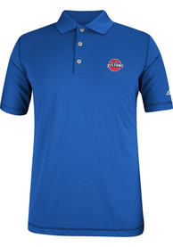 Adidas Detroit Pistons Mens Blue Puremotion Jersey Short Sleeve Polo Shirt
