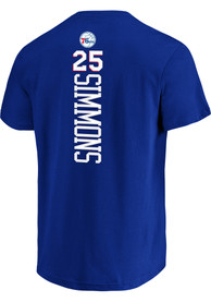 Ben Simmons Philadelphia 76ers Blue Backer Player Tee