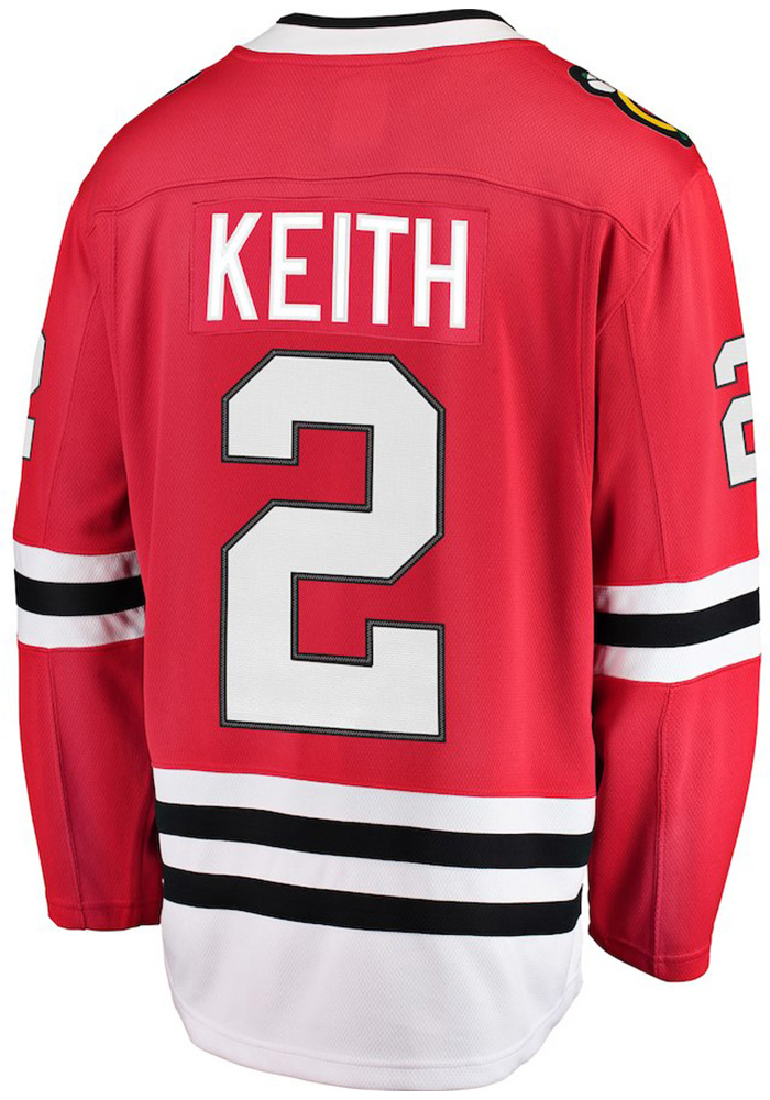 Duncan Keith Chicago Blackhawks Mens Red Breakaway Hockey Jersey - Image 1
