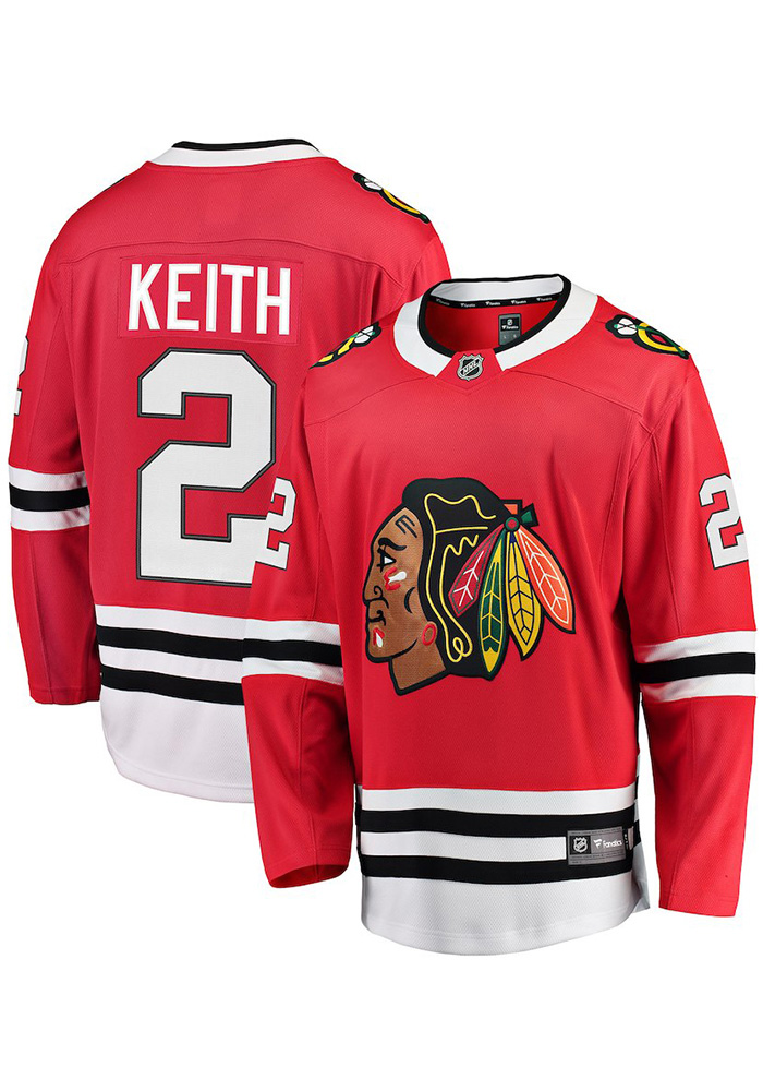 Duncan Keith Chicago Blackhawks Mens Red Breakaway Hockey Jersey - Image 3
