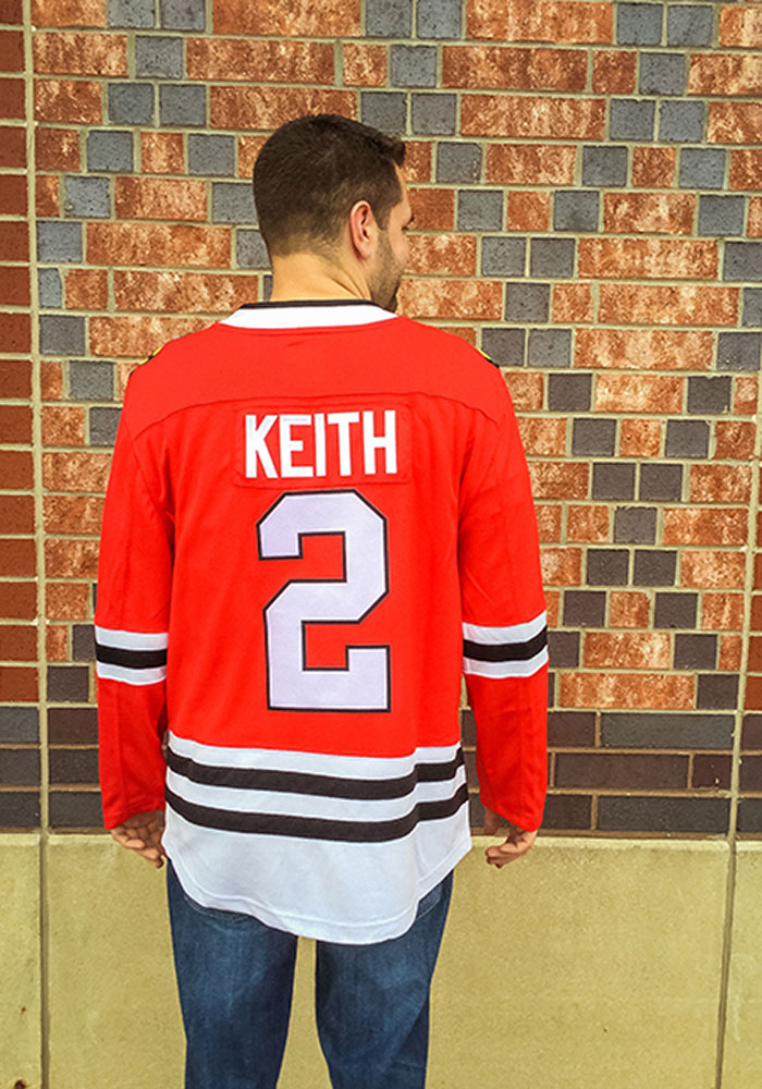 Duncan Keith Chicago Blackhawks Mens Red Breakaway Hockey Jersey - Image 6