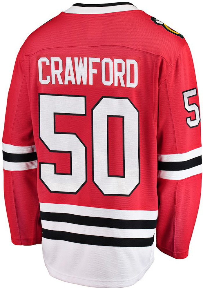 Corey Crawford Chicago Blackhawks Breakaway Hockey Jersey - Red