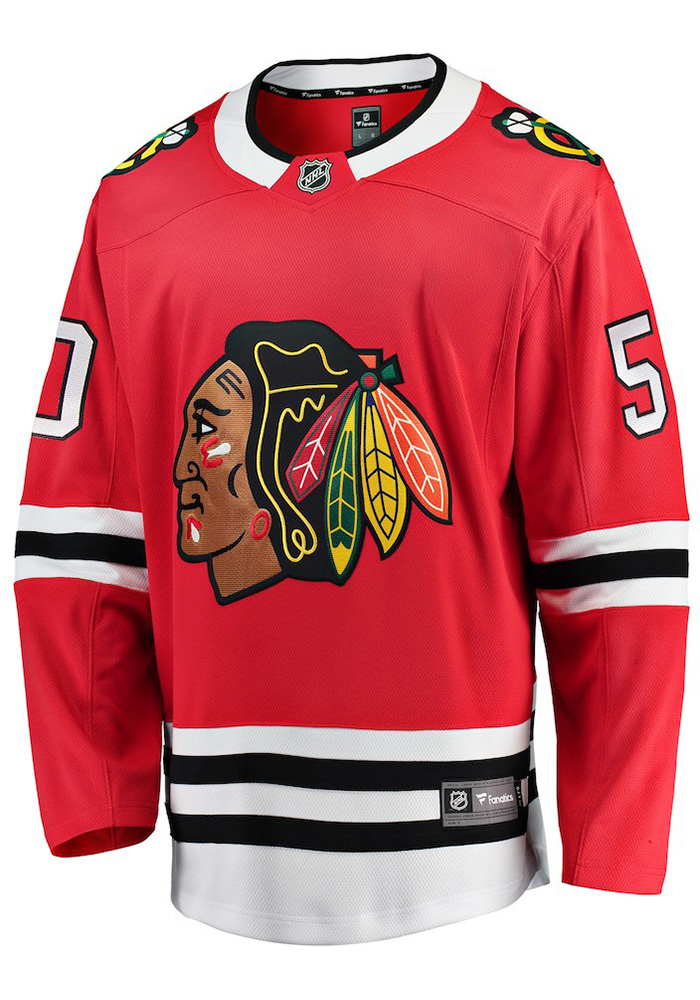 Corey Crawford Chicago Blackhawks Mens Red Breakaway Hockey Jersey - Image 2