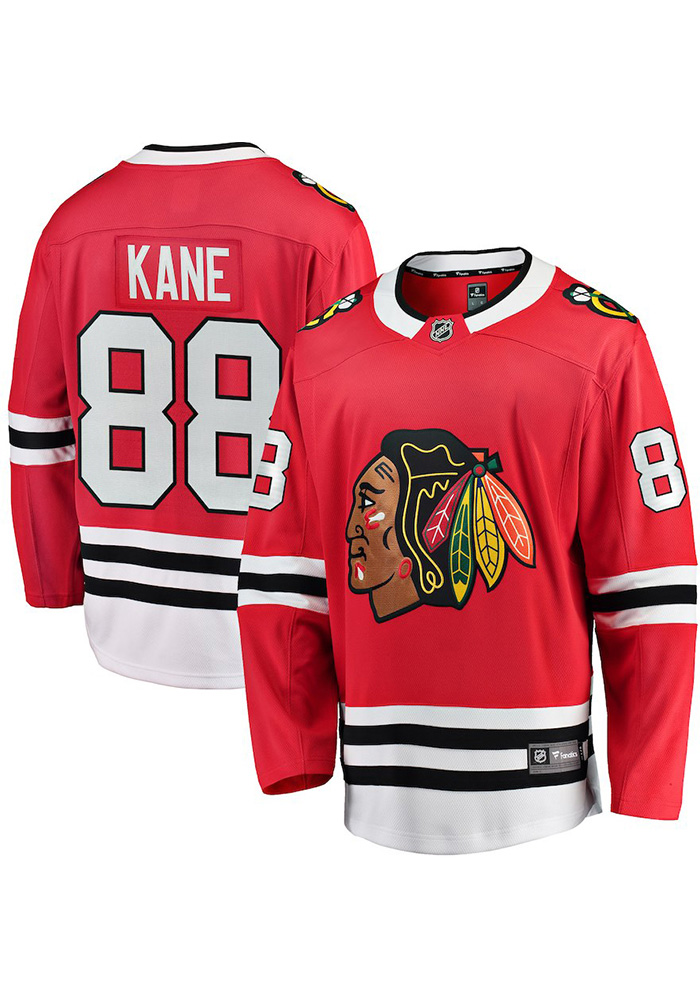 Patrick Kane Chicago Blackhawks Mens Red Breakaway Hockey Jersey - Image 3