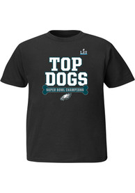 finest selection f0da2 caee1 Philadelphia Eagles Youth Black Top Dog 2018 Super Bowl Champions T-Shirt