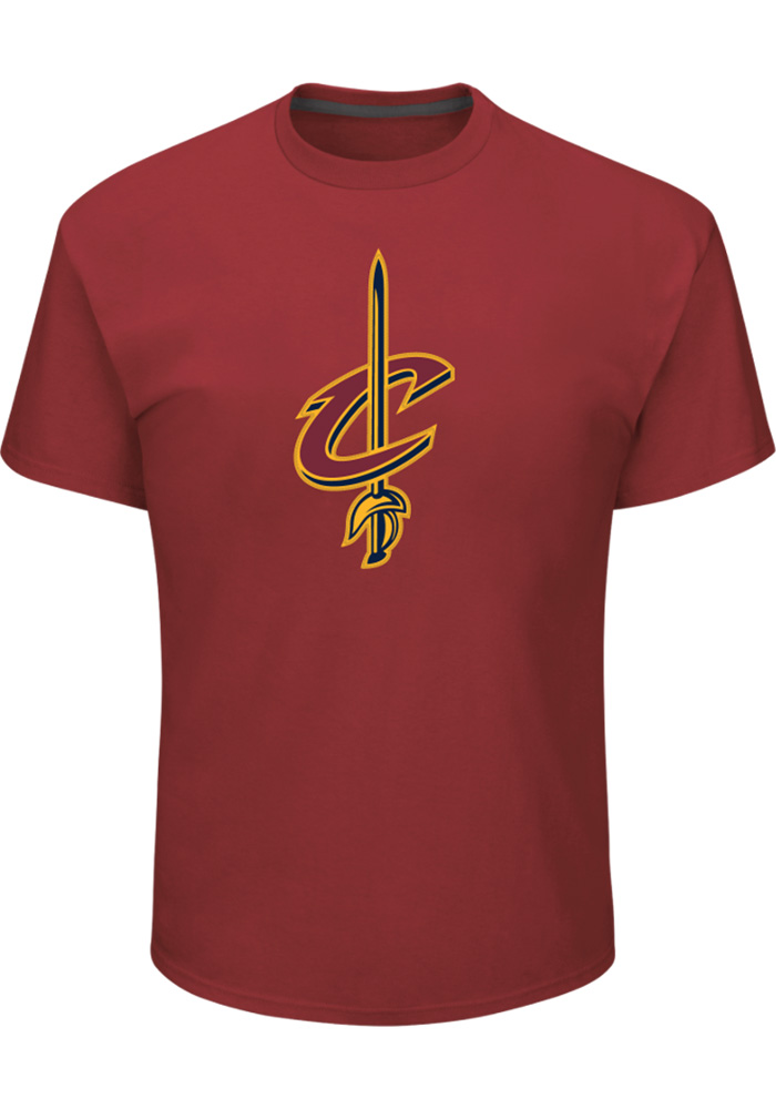 LeBron James Cleveland Cavaliers Maroon Backer Short Sleeve Player T Shirt - Image 1