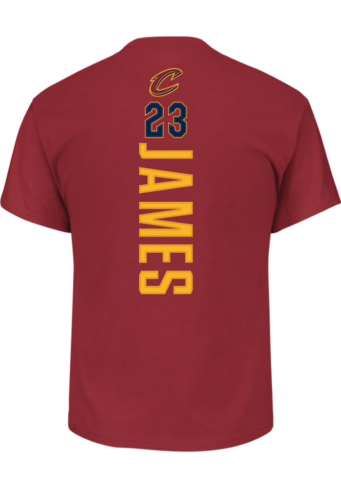 LeBron James Cleveland Cavaliers Maroon Backer Short Sleeve Player T Shirt - Image 2